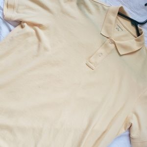 Men's Lands End S/S Yellow Polo Shirt Large